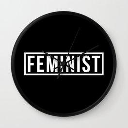 Feminist Black Wall Clock