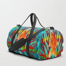Golden Fish Duffle Bag