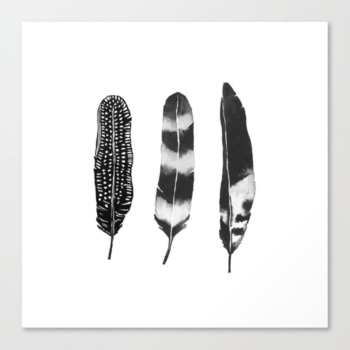 Dark Feather Canvas Print