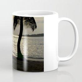 the sunset by the palm tree Coffee Mug