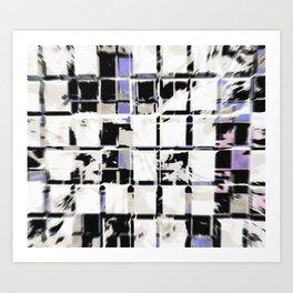 lattice distortion Art Print