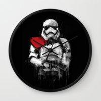 trooper Wall Clocks featuring Trooper by Rafal Rola