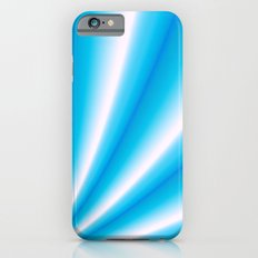 pale blue and white  iPhone 6s Slim Case