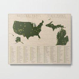 US National Parks - Michigan Metal Print