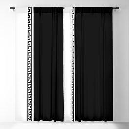 Greek Key 2 - B & W Blackout Curtain