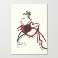 Queen of Hearts Zen Tangle Canvas Print