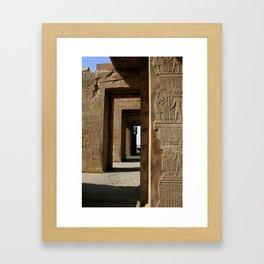 Temple Hieroglyphics Framed Art Print