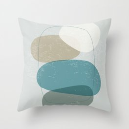 Abstract Stones in Blue No. 3 Throw Pillow