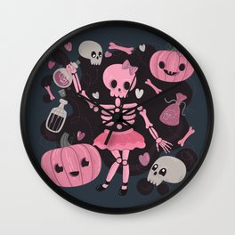 Love Potion Skeleton Dance Wall Clock