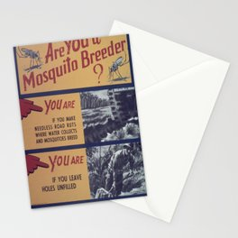 Vintage poster - Mosquito breeder Stationery Cards