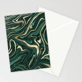 Emerald Green Black Gold Marble #1 #decor #art #society6 Stationery Cards
