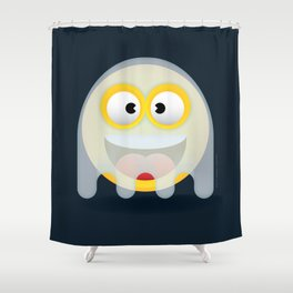 Ghosty the Smiling ghost Shower Curtain