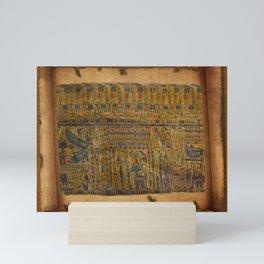 Ancient Egyptian Funerary Scroll pre 944 BC Mini Art Print