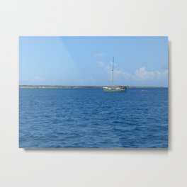 Sail boat in the Turks & Caicos Metal Print