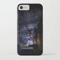 castlevania iPhone & iPod Cases featuring Castlevania: Vampire Variations- Bridge by LightningArts