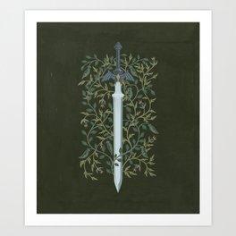 Sword of Time Art Print