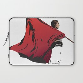 Woman with flag Laptop Sleeve