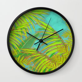 Palm Forest Wall Clock