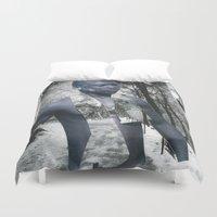 castle Duvet Covers featuring Castle by Mowil