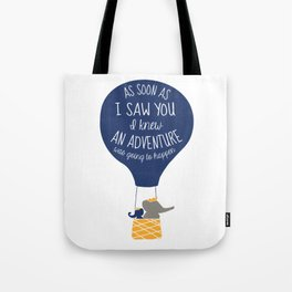 Babar-As soon as I saw You I knew an Adventure was going to Happen Tote Bag