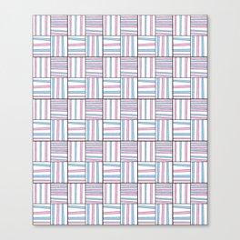 symetric tartan and gingham 11 -vichy, gingham,strip,square,geometric, sober,tartan Canvas Print