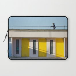 In scooter, yellow cabins Laptop Sleeve