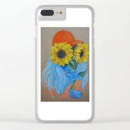 Sunflower Season Clear iPhone Case