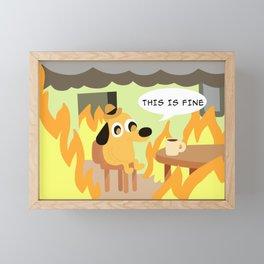 this is fine Framed Mini Art Print