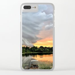 """""""Stormy Sunset"""" Clear iPhone Case"""