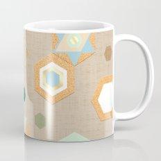 Cork Hexagons (Beige) Mug