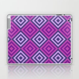 Purple Goemetric Diamonds Retro Digital Pattern Laptop & iPad Skin