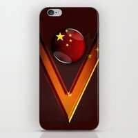 china iPhone & iPod Skins featuring China by ilustrarte