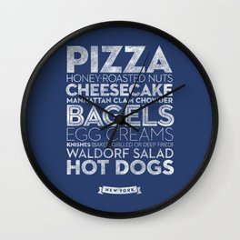 New York — Delicious City Prints Wall Clock
