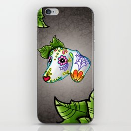Dachshund - Day of the Dead Sugar Skull Wiener Dog iPhone Skin