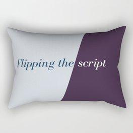 Flipping the script Rectangular Pillow