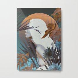 Golden Tropical Garden Metal Print