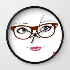 Hipster Eyes 1 Wall Clock