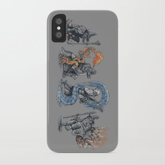 earth - fire - water - (bad) air iPhone Case