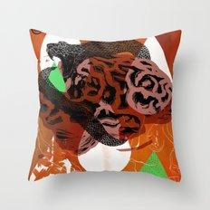 Dark Brains Club Throw Pillow