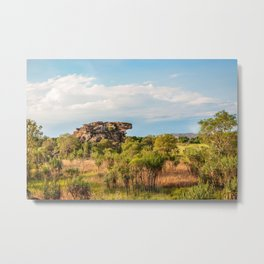 Almost typical Australian Landscape: green and gold Metal Print