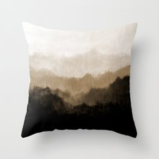 Old Mountain Throw Pillow