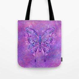 Butterfly In Purple Tote Bag
