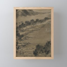 Wind and Water Landscape in the Style of Mi-fei Framed Mini Art Print