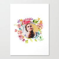 lydia martin Canvas Prints featuring queen lydia martin by churity
