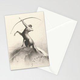 "Odilon Redon ""Centaur focuses on the sky"" Stationery Cards"