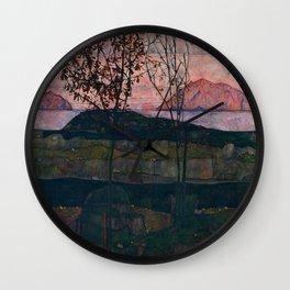 "Egon Schiele ""Setting Sun"" Wall Clock"