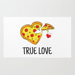 True Pizza Love Rug