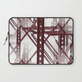 Red Steel Construction Laptop Sleeve
