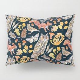 Autumn Wildlife Pattern - Dark Pillow Sham