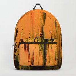 Abstract artwork #33 - The Golden Light Of The Universe - Abstract painting Backpack